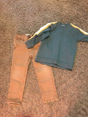 Zara Boys Jumper And Jeans Age 5