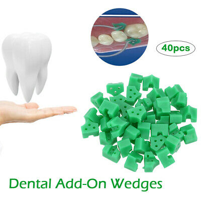 140Pcs Dental Add-On Wedges For Sectional Contoured Matrices Green New