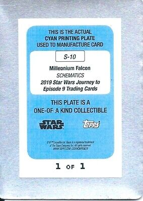 2019 Star Wars journey to Star Wars the rise of Skywalker  printing plate 1/1