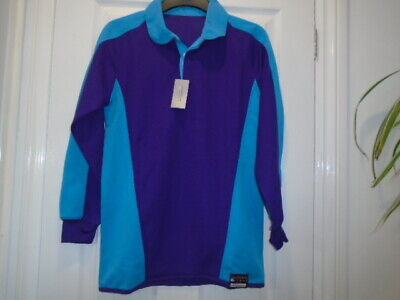Purple and turquoise sports / active wear long sleeve top, 34-36, NEW