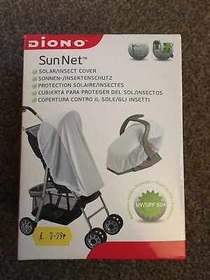 Diono Sun Insect Net Fits Buggy Or Car Seat Brand New