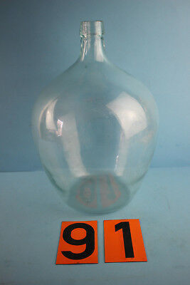 Alter  Glasballon Transparent Ca 10 Liter Nr 91