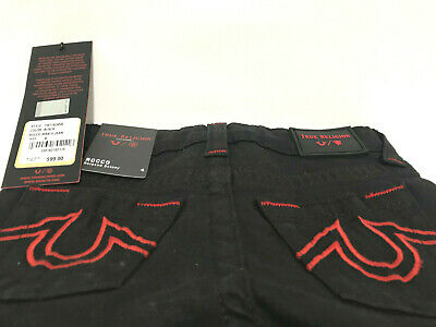 True Religion Boys Manchester Toddler Rocco Relaxed Skinny Black Jeans Sz 4