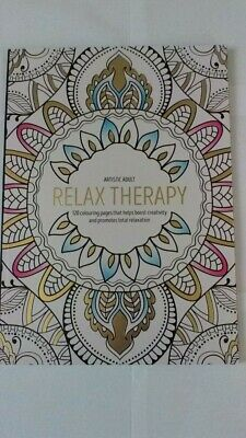 A4 Art Relax Therapy Adult Colouring Book Brand New
