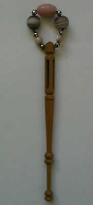 East Midlands Mother & Babe Wooden Lace Bobbin with Spangle