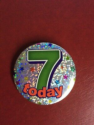 7 Today Badge Silver Sparkle