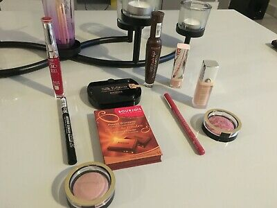 Bourjois Lot Maquillage 10 articles, Poudre,Anti Cernes, Mascara,Liner...Neuf