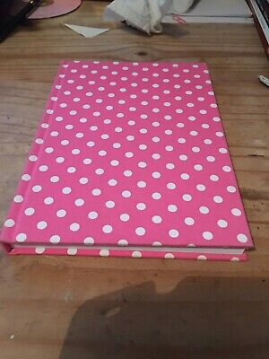 Fabric Covered A5 Notebook Pink Spotted