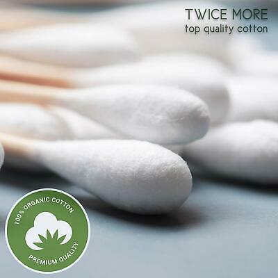 Eco-Friendly Bio-Degragable 500 Pack Bamboo & Cotton Swabs