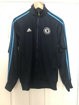 Adidas Tracksuit Top Small Navy Blue And Chelsea Football