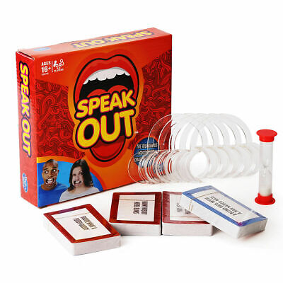 SPEAK OUT GAME BOARD PARTY MOUTH PIECE CHALLENGE FAMILY KIDS FUN Hasbro GIFT NEW