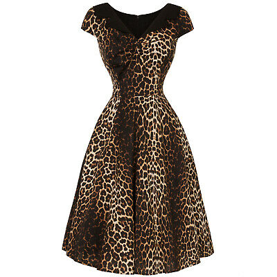Hell bunny Panthera Leopardato Retro Vintage 1950s Rockabilly Swing Abito