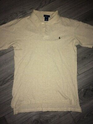 Ralph Lauren Boys L 16-18 Polo T Shirt Beige