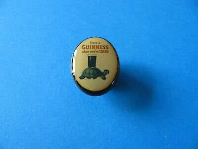 Unused Back Stamped. Oval Lovely Day For A Guinness Toucan Pin Badge