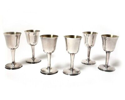 Silver vodka cup (shot cup), 6 pcs.  Sweden, Stockholm, year 1962, workshop GAB
