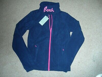Bench Girls Age15/16 Brand New !!!!!!!!!! Zip Up Jacket with Tags, Navy Blue.