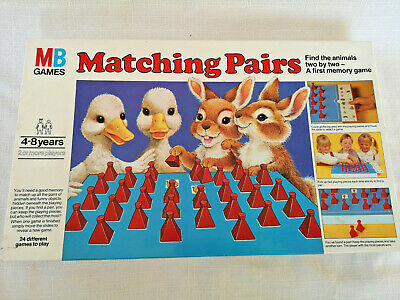 Matching Pairs MB Games 1981 Vintage board game 100% complete memory education