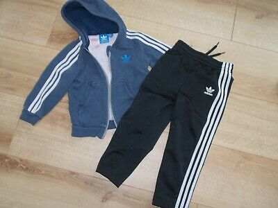 Boys Adidas Originals Tracksuit Top Joggers Age 2-3 Years