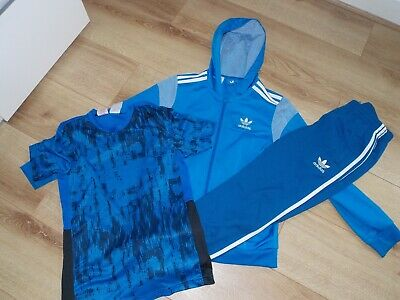 Boys Adidas Originals  Tracksuit Top T-Shirt Joggers Age 11-12 Years
