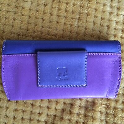 MyWalit Sunglasses Or Glasses Case In Soft Nappa Purple Leather. New No Tag.