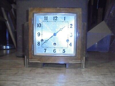 Antique Art Deco Mantle Clock, Striking Design, no reserve. (Made by Anvil)