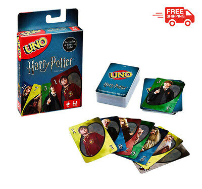 Uno Harry Potter Card Game Mattel Games Fun Friends Family Special Edition Cool