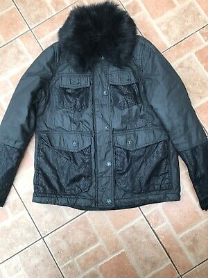 Ladies / Girls River Island Wax Effect Jacket with Snake Print detail Size 6