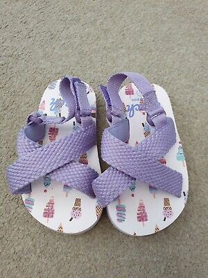 Bluezoo Girls Purple Sandles Size 7