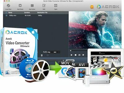 Acrok Video Converter Ultimate 5 Mac  license Download  (30s Delivery)