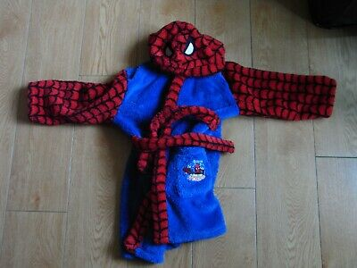 boys spiderman dressing gown from george at asda age 6-7 years