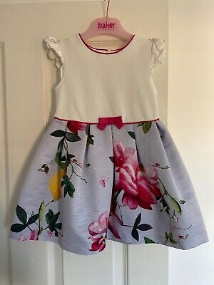 Girls Ted Baker Floral Print Dress. 2-3 Yrs. Immaculate Condition