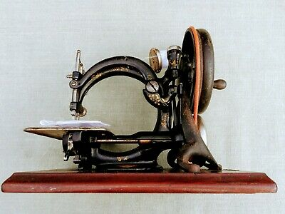 Rare Antique Willcox and Gibbs chain stitch Sewing Machine Tested, Working Well