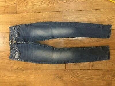 Mens Boys River Island Jeans Trousers 26 Waist 32 Length Skinny Stretchy Fit