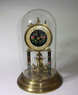 vintage JOSEF F. SCOTT German ANNIVERSARY torsion CLOCK, ticks but STOPS