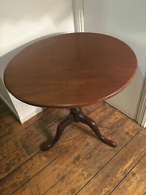 Antique Georgian Tripod Table George IV Tilt Top Side Table Mahogany