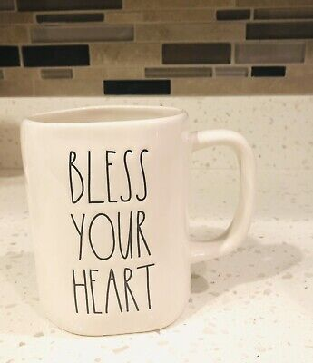 "New RAE Dunn ""BLESS YOUR HEART"" 2020 Release LL Valentine St. Patty's Day Mug"