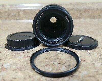 *Canon EF-S 55-250mm F/4-5.6 IS Telephoto Zoom Lens Pre-owned Free Shipping