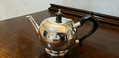 English Sterling Silver Bullet Teapot
