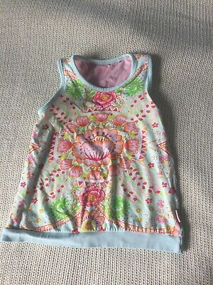 Girls Floral Print Top Size 5 Years By Oilily