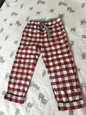 Boys Cotton Checked Pyjama Bottoms By Marks & Spencer Age 3-4