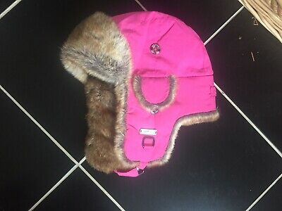 WOMENS/GIRLS PINK WINTER SKI HAT SOFT FAUX FUR LINED  & QUILTED  By BARTS O/S