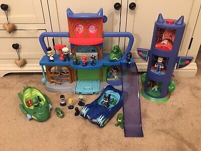 PJ masks headquarters Playset Bundle Transforming Tower Vehicles & Figures