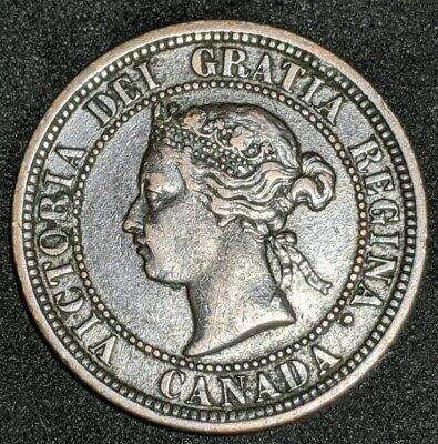 1882 H Canada Large Cent, Great Condition AU Sharp Coin