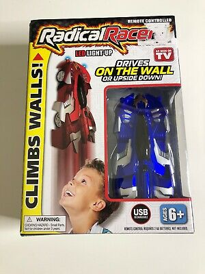 Radical Racers - Remote Controlled Wall-Climbing Car - As Seen on TV, BLUE! NEW