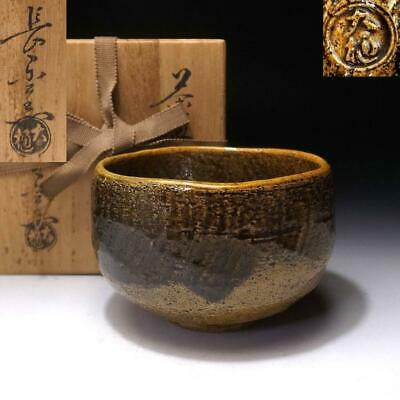 TB18: Japanese Raku style tea bowl, Ohi ware by Great Potter, Choraku Ohi