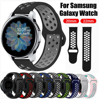 For Samsung Galaxy Watch 42mm 46mm Active 2 Sports Silicone Wrist Band Strap