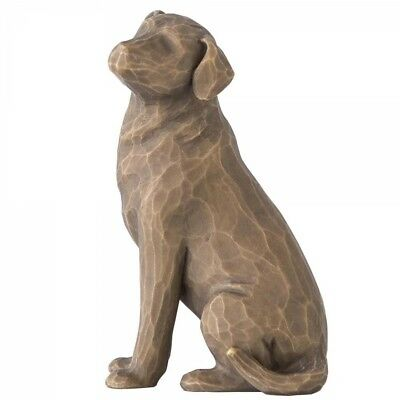 Demdaco Willow Tree Love My Dog Dark Figurine BY Susan Lordi 27683 New and boxed