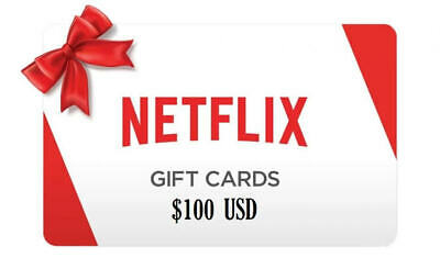 NETFLIX $100 GIFT CARD us  fast email   delivery