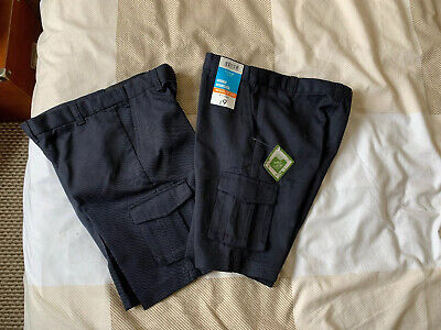 Boys Navy School Plus Fit Shorts Size 6-7 Years. New With Tags.