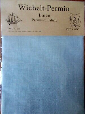"Cross stitch Fabric Linen ""Star Sapphire "" New by Permin 28ct   27.5"" x 19.5"""